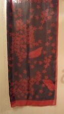 Country Casuals Pure Silk Scarf vintage Black/Red