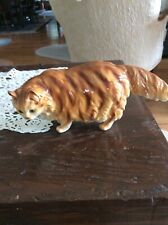 Vintage Porcelain Cat - Red Tabby Persian - Made in Japan