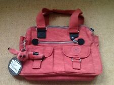 New With Tags Kipling Bravo Bag In Coral