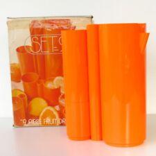Service à Orangeade orange SET 9 - 9 pièces très vintage - Plastique - Etat neuf