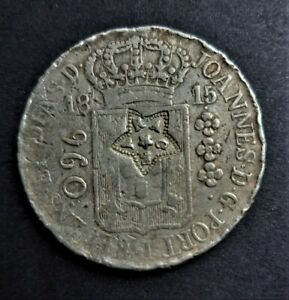 Brazil/ 960 Reis 1815/ With Ceara Countermark/ Excellent Condition/ SILVER COIN