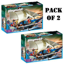 "Pack of (2) Playmobil 5140 Redcoat Battle Ship ""Pirates on the Horizon"" 4-10"
