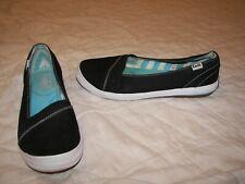 Women's Keds Ortholite Black Canvas Slip On Shoes - WF50116 - Size 6