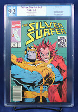 Silver Surfer #45 PGX (not CGC) 9.2 NM- Thanos – classic cover !!!