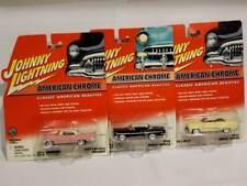 3 Johnny Lightning American Chrome 58 Chevy Impala 53 Buick Super 57 Lincoln
