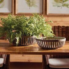 Bamboo Low Baskets Set of 2 Napa Home & Garden