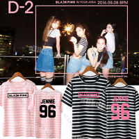 Kpop BLACKPINK SQUARE ONE Stripe T-shirt  IN YOUR AREA Tshirt Unisex Lisa Cotton