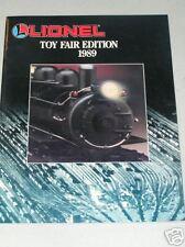 LIONEL 1989 TOY FAIR EDITION CATALOG- NEW