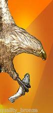 EAGLE OSPREY PURE BRONZE STATUE BIRD FIGURINE FIGURE HOT CAST SIGNED SCULPTURE