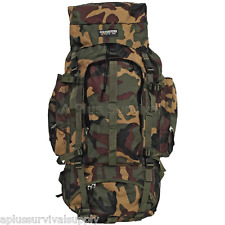 Camouflage Hiking Survival Kit Bug Out Bag Kit Backpack