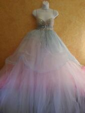 Cinderella Blue Angel Goddess Babydoll Tulle Tutu Empire Bridal Wedding Ballgown