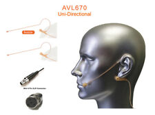 Set of 2 Tan Headset Mic for Shure Wireless Transmitter