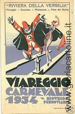 03434   -  CARTOLINA PUBBLICITARIA Doppia: CARNEVALE DI VIAREGGIO 1934