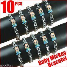Lot 10pcs Disney Baby Mickey Mouse Bracelets Baby Shower Birthday Party Gifts