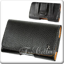 For ALCATEL IDEAL STREAK LEATHER HORIZONTAL COVER CASE POUCH W/ BELT LOOPS CLIP