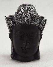 Beautiful Brushed Silver Decorative Buddha Head/Statue Budda/Zen/Buddhism/Peace