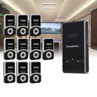 Tourism Tour Guide Wireless System 1 Transmitter+10pcs 900mA Receiver Black Mini