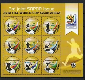MALAWI, 2021,WORLD CUP,SOCCER,2010, O/P  with new value, K900  S/S,  MNH,NEW!!