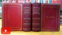 Scripture History Christianity 300 steel engravings c.1850's Virtue leather set