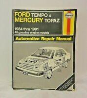 Automotive Repair Manual Haynes 1418 Ford Tempo & Mercury Topaz 1984-1991