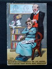 More details for suffragette interest 1000 years you might become prime ministeress ! postcard