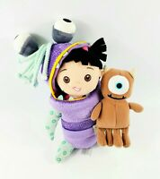 2001 Monsters Inc Little Mikey Plush Walt Disney World Monster Boo Doll Set