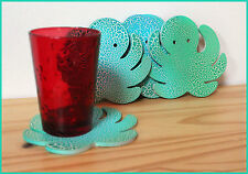 6 coasters 6 sous verres table pieuvre marin octopus NEUF NEW bois