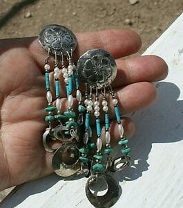 Tabra Southwestern Turquoise & Pearl Sterling Silver Post Earrings!