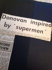 65-6 Ephemera 1966 Donovan New Single Sunshine Superman Review Article