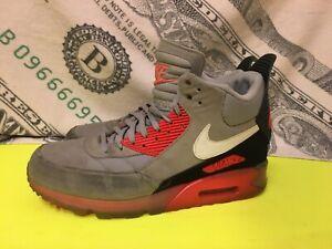Nike Air Max 90 Sneakerboot Sneaker Boot Infrared Grey Size 11 Rare Running