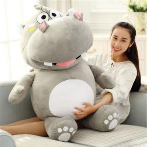 Handmade 47'' Big Hippopotamus Hippo Plush Soft Toy Stuffed Animals Pillow Doll