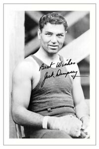 JACK DEMPSEY Signed Autograph PHOTO Fan Gift Signature Print BOXING Boxer