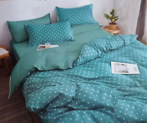 Bedding Set Red Star 3Pcs Two-Sided Duvet Cover/2Pillowcases/Double 200x 220cm