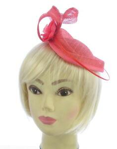 Large Coral sinamay hatinator headband fascinator, weddings, races, prom