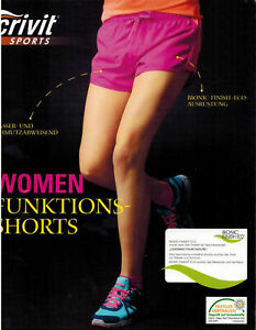 Ladies Funktionsshorts Crivit Sports Tracksuit Bottoms Polyester