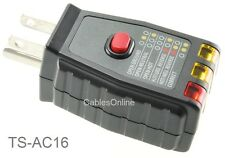 AC 3-Prong 120V GFCI or Standard outlet Receptacle Tester, 6-Condition Testing