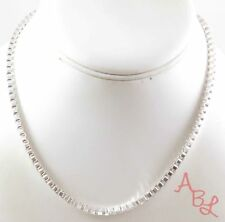Sterling Silver Vintage 925 Thick Box Chain Linked Necklace 16'' (20g) - 745544