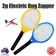 2p Electric Mosquito Zapper Tennis Racket Bug Fly Insect Swatter Killer Handheld