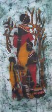 Batik Painting African Woman & Kids Kenya Large Original Unique Handmade Art New