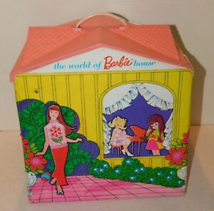 1967 Mattel Mod Era WORLD OF BARBIE HOUSE Complete & Roof Attached Nice Example