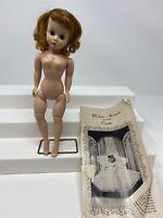 VINTAGE Madame Alexander Cissette 1950's Bent Knee TLC Triple Stitch Wig