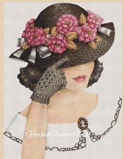 Cross stitch chart  Elegant Lady  No 192 e FlowerPower37-uk FREE UK P&P