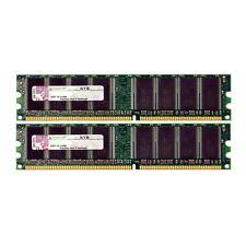 Kingston 2GB 2x1GB PC3200U 400MHz Low Density DDR Non-ECC Desktop Ram Mem TESTED