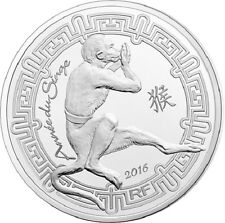 FRANCE 10 Euro Argent Chine Année du Singe BE 2016 - Year Monkey Silver