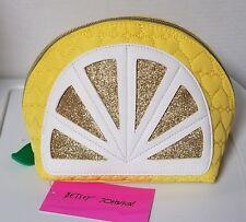 Betsey Johnson-Kitsch Cosmetic Bag-Lemon NWT