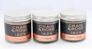 Craig & Rose 1829 chalk Paint Tester Pots Kasmir Beige,Hill House and Chatelaine
