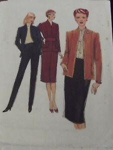 Vintage 1979 Sewing Pattern Suit- Style 2852 size 12 Bust 87 cm