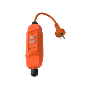 In-Line RCD Residual Current Devices Safety Switch Socket Orange