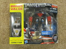 Transformers DOTM Dark Moon Deluxe Voyager Mechtech Optimus Prime Comettor MISB