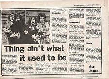 STRING DRIVEN THING UK ARTICLE / clipping 1973